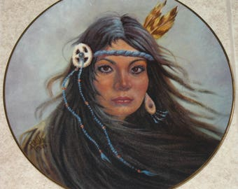 Collector Plate- Pocahontas- Beautiful Art by Gregory Perillo