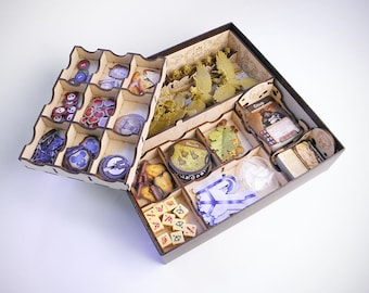 Tail Feathers board game, wood insert, organizer