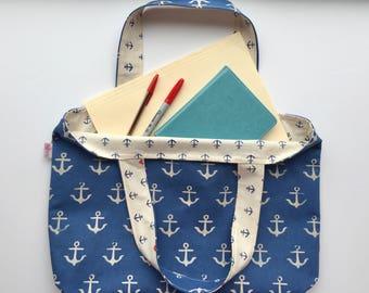 REVERSIBLE TOTE BAG | Beach tote bag | Computer bag |