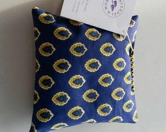 Lavender pillow blue-yellow