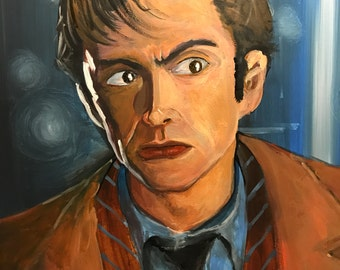 Acrylic painting: the 10th Doctor