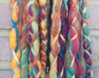 Colorful DE wool dread
