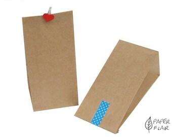 25 paper bags kraft paper nature (ET-2)