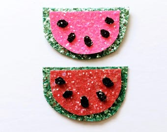 Glitter watermelon clip OR headband