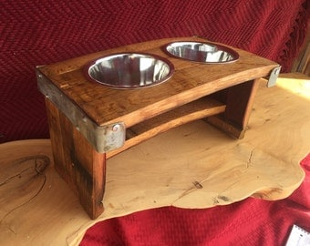 Wine Barrel Pet Bowl Stand-Dog Bowl Stand-Pet Feeder-Dog Lover Gift-Housewarming Gift-Pet Accessorie