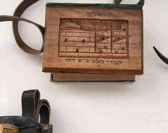 Daily Prayers, Jerusalem 1910th, Bezalel Jerusalem cover, Judaica , including English translation.
