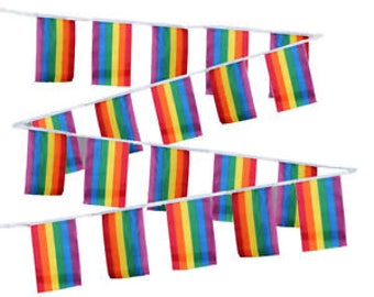 Gay Pride String Flags, Gay Pride Flags, Gay Pride Banners, Gay Pride Party Supplies, Gay Pride, Gay Wedding Flag, Gay Flag, Pride Flag