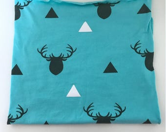 Boys Deer Swaddle, Woodland Swaddle, Sleep Sack, Baby Sleeping Bag , Cocoon Swaddle, Baby Blanket