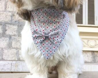 Liberty dog accessories dog bandana size for shih tzu, Lhasa apso, bichon.