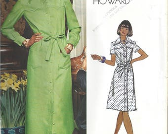 1970s Chuck Howard Vogue Americana Dress 1072 Sewing Pattern Bust 36