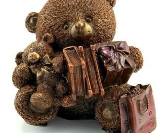 "Chocolate figure ""The Bear with big gifts"" /Handmade Cift/ Ladies Gift/Mum/Nan/Sister/Animal/Birthday/for Children"