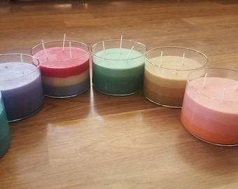 3 Wick Large Candles