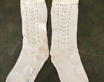 Vintage White Socks