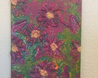 Pop flower painting
