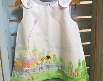 Sommer Pinafore Dress 6-12m
