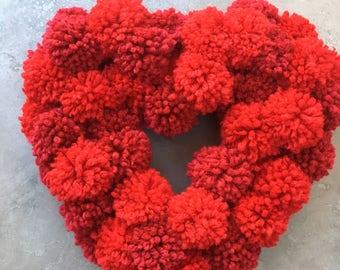 Hand made Pom Pom Heart