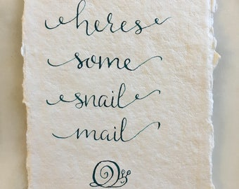 Calligraphy Postcard - Snail Mail