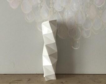 Original Sculpture // column torso // object geometric concrete origami // decorative object