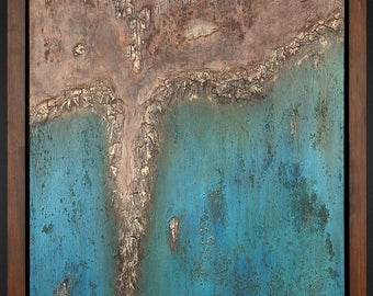 SEA BREEZE Abstract PaintingORIGINAL Texture Wall Art  Wall Decor Modern Art Impasto Palette Knife