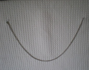 Silver link chain 42 cm