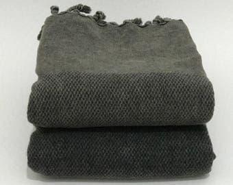turkish towel, grey cotton towel, turkish beach towel, turkish bath towel, beach towel, peshtemal towel,hammam towel, gym- sauna- spa towel