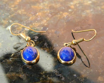 Lapis Lazuli Earrings with gold-plated setting