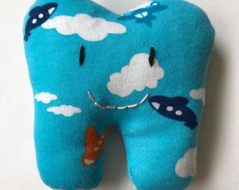 Tooth fairy pocket pillows made from your childs baby grows/clothes