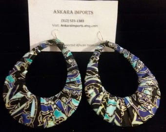 Fancy Ankara Large Hoop Earrings
