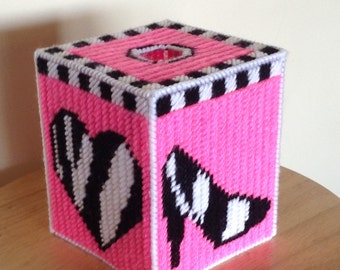 Pink and girly tissue box cover