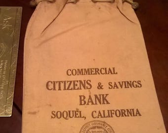 Commercial Citizens & Savings Bank Soquel CA Canvas Bag