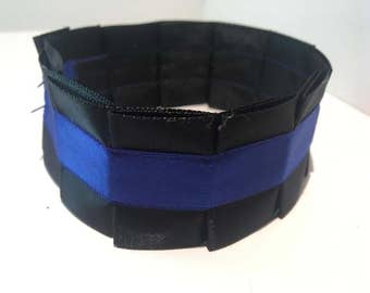 Pleated Satin Collar- Royal Blue