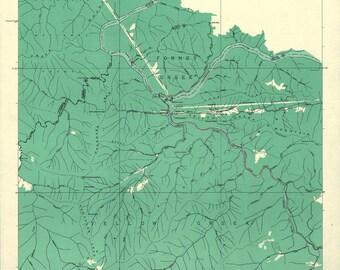 1927 Map of Smokey Mountain National Park - Canvas Print - Wall Art
