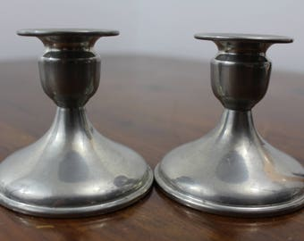 Vintage Revere Pewter Candle Holders