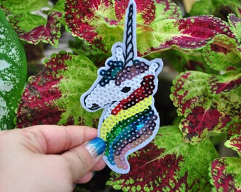 Unicorn iron on patch,Sew-On Patch Applique,Purchase for DIY