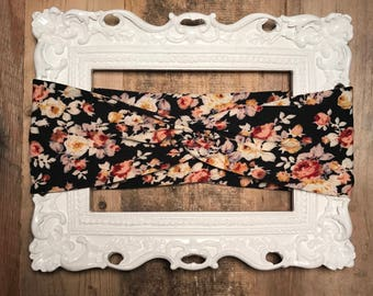 Vintage Floral Adult/Toddler/Infant Handmade Twist Turban Headband