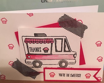 "Cupcake Truck ""Thank You"" Card"