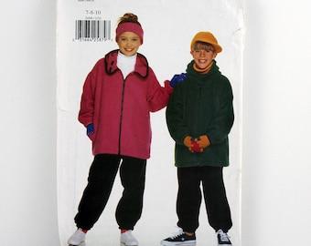 Butterick Pattern 5099, Girls' and Boys' Jacket, Pants, Cap, Headband, Size 7-10 Uncut, Girl and Boy Hats, Winter Coat, Easy Sewing Pattern