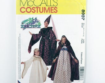 McCalls Pattern 8937, Misses' Medieval Costumes, Size Small, Theatre, Thespian, Play, Renaissance Fair, Halloween, Costume Sewing Patterns,