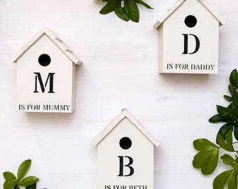 Personalised Initial Bird Box