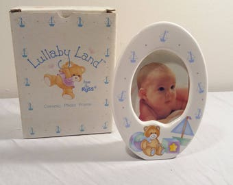 Vintage Lullaby Land Ceramic Photo Frame By Russ