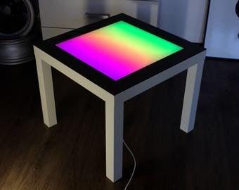 Led Coffee Table Arduino LED table Colored Glass Table Backlight Table Night light table