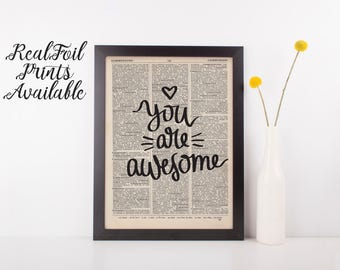 You Are Awesome Dictionary Print