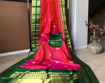 Hand Woven Pure silk Kanchivaram Saree