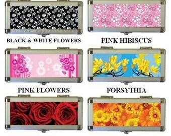 Flower Designs Aluminium Dart Case