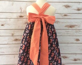 Girls floral summer dress