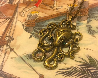 Octopus Charm Necklace