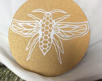 Billy Bee glitter papercut