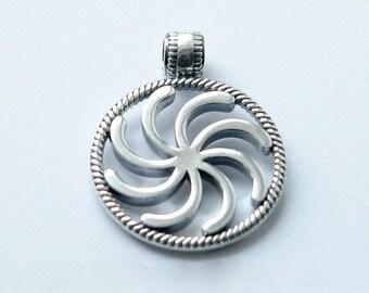 """El encanto eslavo """"El signo de Perun"""", joyería de plata, colgante de pagano, amuleto, colgante de plata esterlina"""