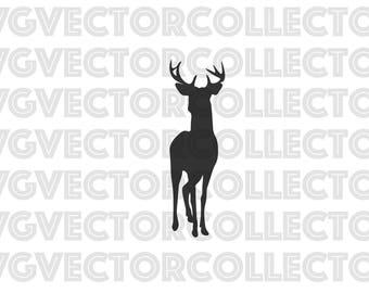 Front Facing Buck Deer, SVG EPS Png DFX, Clip Art, Instant Digital Download