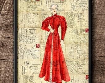 1930s Fashion · Instant Download · Charles James · Collage · Vintage · Art ·  Sketch · Digital File #28